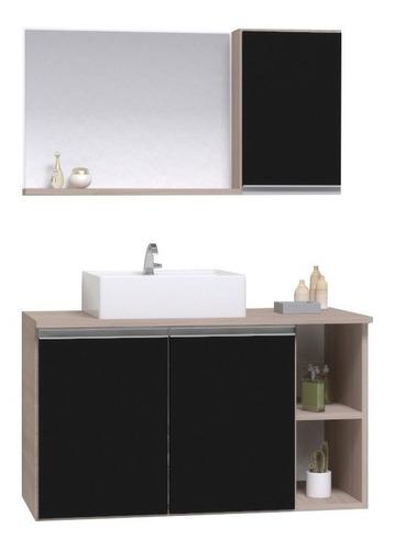 Gabinete Armario Banheiro Virtus 80cm - Puxador Aluminio