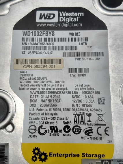 Hd Wd1002fbys Hp