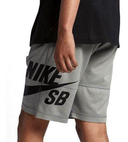 Bermuda Nike Sb Dry Sunday Elástico Cinza 829603-063