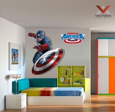 Vinilos Decorativos Avengers Capitan America 100 X 150 Cm