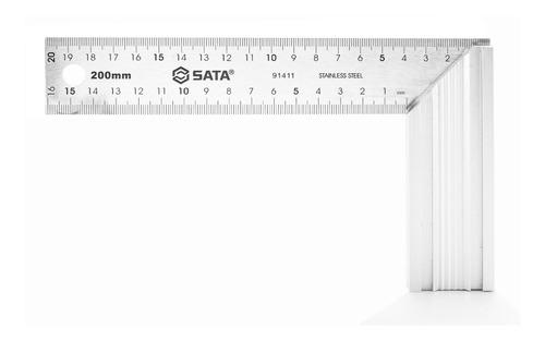 Escuadra 8'' (200mm) Aluminio Sata 91411