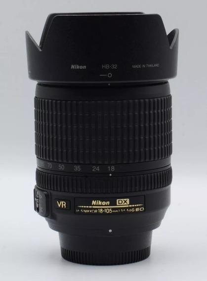 Lente Nikon 18-105mm 3.5-5.6 Com Para-sol - Usada