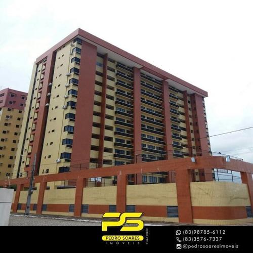 Apartamento Com 2 Dormitórios À Venda, 77 M² Por R$ 350.000 - Aeroclube - João Pessoa/pb - Ap3906