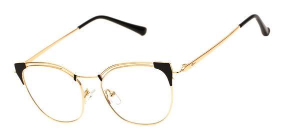 Armação Oculos Ogrife Og 1787-c Feminino Metal Original