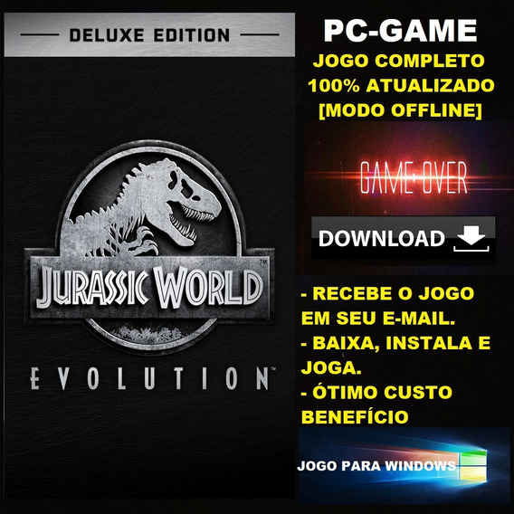 Jurassic World Evolution Deluxe Edition - Pc - Digital