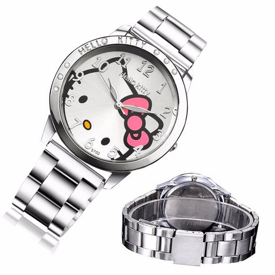 Reloj De Acero Hello Kitty Blanco