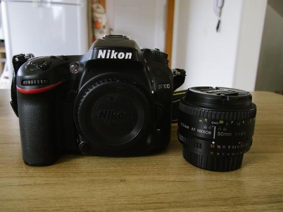 Câmera Nikon D7100 + Lente 50mm