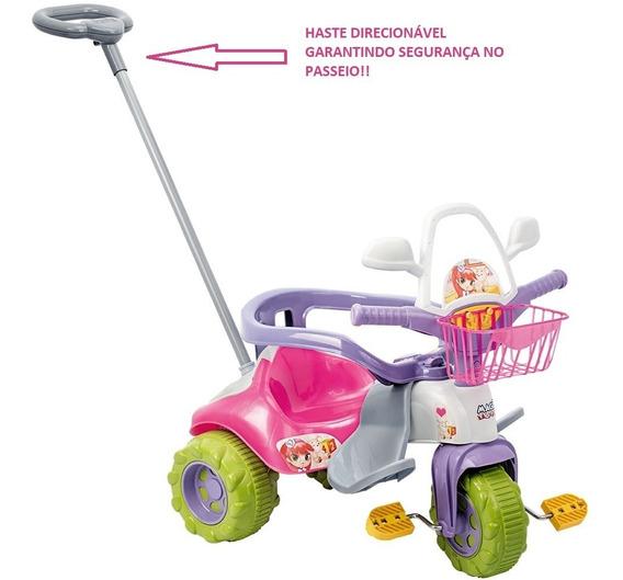 Motoquinha Infantil Triciclo Bebê 1 Ano C/ Proteção E Haste