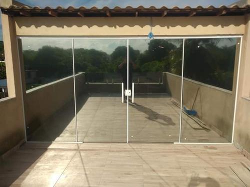 Esquadrias De Alumínio,e Vidros Temperados.