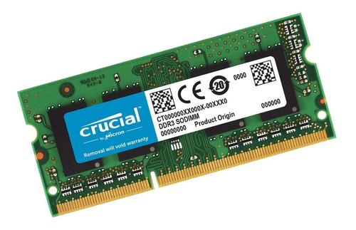 Memoria Ram Crucial Sodimm Ddr4 16gb 2666mhz Mac Notebook