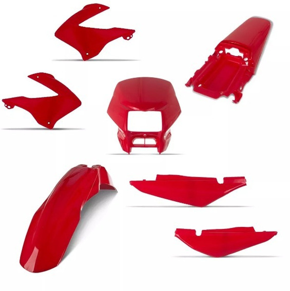 Kit Plástico Nxr 125 Bros 2003 Até 2008 Cor Vemelho