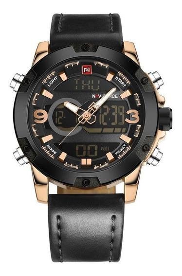Relógio Masculino Dourado Social Frete Grátis Naviforce Top!
