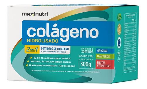 Maxinutri Colágeno Sachê Hidrolisado 2em1 Sortidos 30x10g