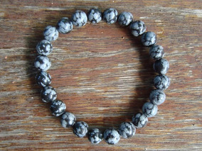 Pulseira Obsidiana Nevada - Masculina - Pedras Naturais