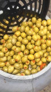 Aceitunas Rellenas De Pimentón De 69kg, 44kg Escurridas