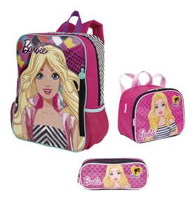 Kit Mochila Infantil Costas Barbie Listrada Sestini G