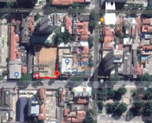 Terreno, 1630 M² - Venda Por R$ 21.190.000,00 Ou Aluguel Por R$ 60.000,00 - Vila Romana - São Paulo/sp - Te1122
