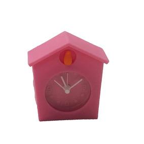 Relógio Cuco Decorativo Personalizado Emborrachado Rosa 6x6