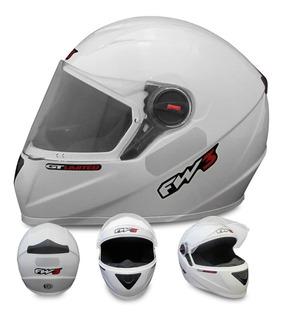 Capacete Moto Cbx 250 Twister Fw3 Esportivo Gt Branco