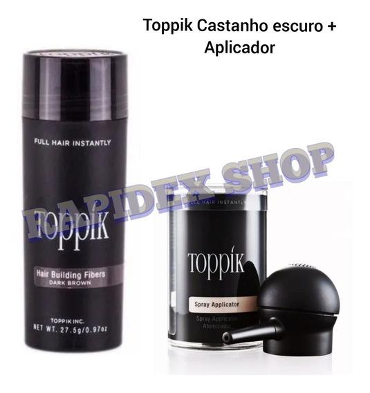 Toppik Hair Fibra Natural 27.5g + Aplicador Borrifador