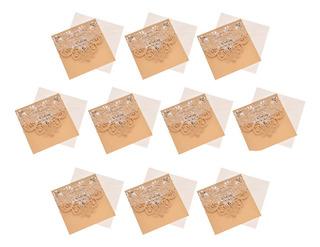 10 Conjuntos De Corte A Laser Oco Fora Cartões De Convite D