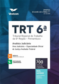 Apostila Trt 6 Analista Judiciário Oficial Justiça Vestcon