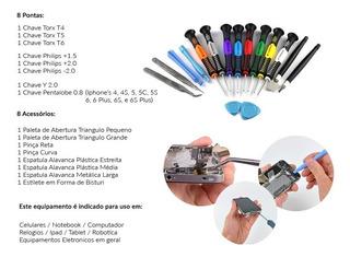 Kit De Chaves De Precisão Manutenção De Celulares 16 Chaves