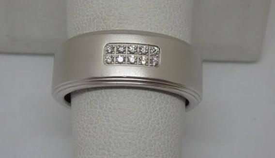 Aliança Tiffany 11 Gramas Original Ouro Branco 18k