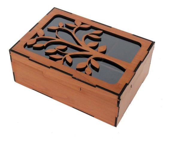 Caja De Te En Madera 6 Divisiones 7 Modelos Originales