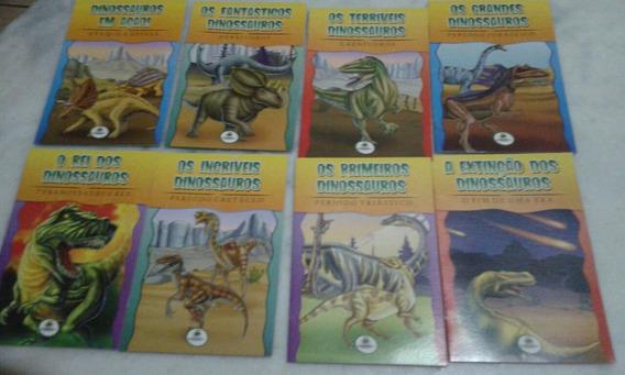 Lote Com 8 Livros Infantis Os Fantásticos Dinossauros