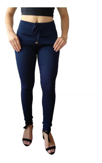 Calça Feminina Ribana Canelado Cintura Alta Tip Moletom Kit5