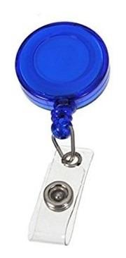 Dispositivo Porta Carnet Tipo Yoyo Color Azul Ofi Pack De 12