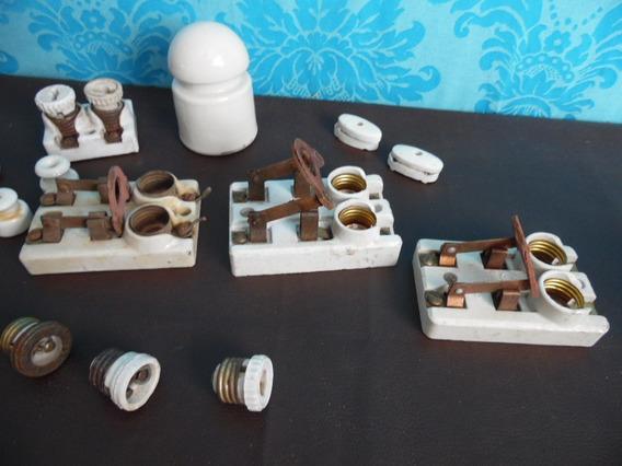 Antigas Peças Louça Instalação Eletrica Para Decoração Lote1