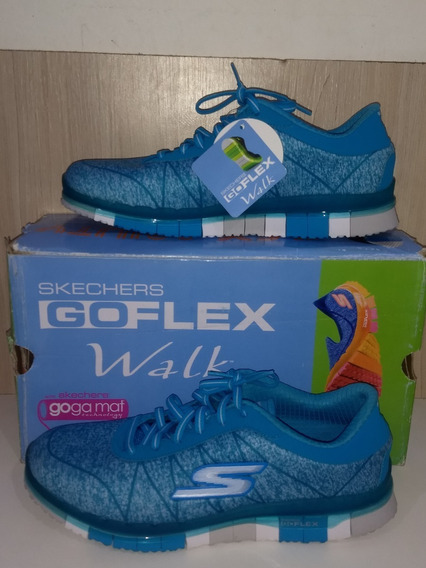 Tênis Skechers Go Flex Walk - Ability Chumbo/azul - 14011-cc