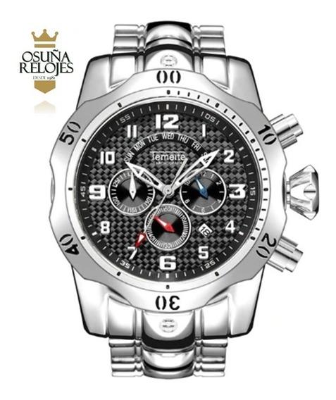 Relógio Masculino Temeite Luxo Pesado Esporte Pronta Entrega