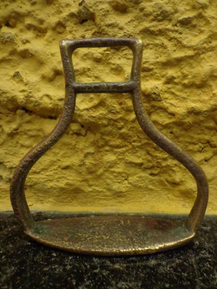 Antigo Estribo Solteiro Infantil Em Bronze - C 4649