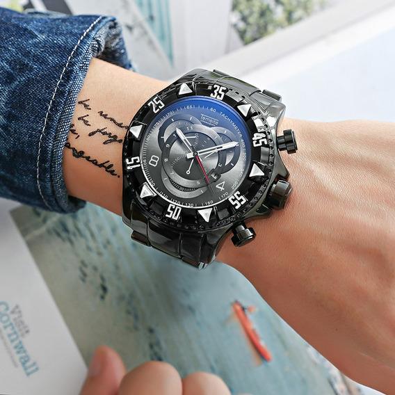 Relógio Temeite Original A Prova D´agua, Aço Inoxidável