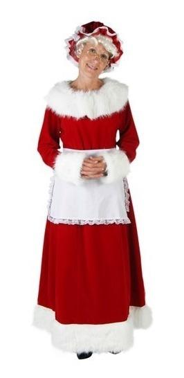 Disfraz Mujer Esposa De Santa Mrs. Claus Clásico Navidad
