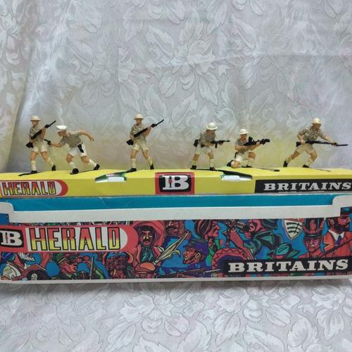Antiguos Soldados Britains Ratas Del Desierto Set De 12