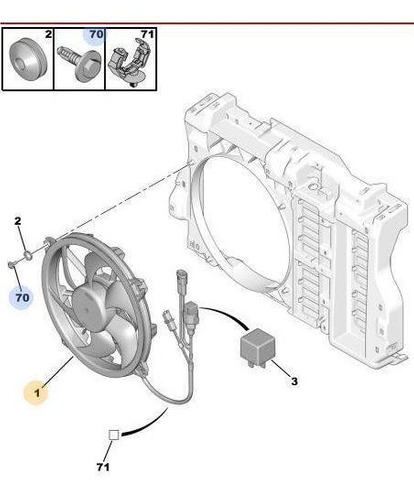 Imagen 1 de 3 de Electroventilador Citroen C5