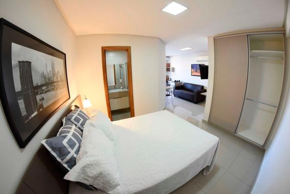 Apartamento Flat Mobiliado, Setor Bueno, Vaca Brava, Alugar