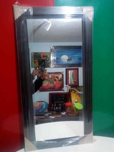 Espejo Sencillo Marco De Madera 0,47x1,12cm