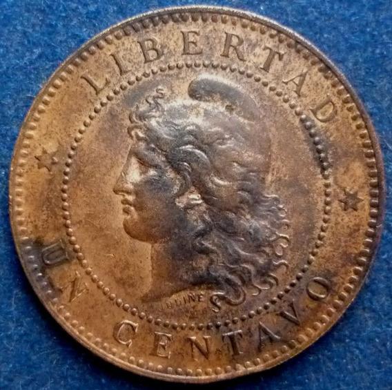 Argentina Un 1 Centavo Patacón 1895 Var.cj# 50.1 S/circular