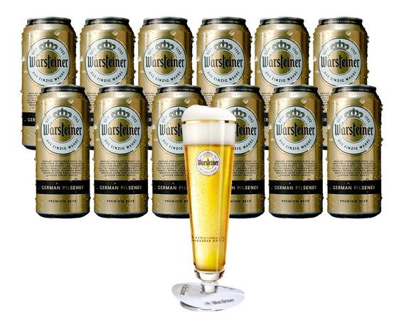 Cerveza Warsteiner 12 Latas 473cc + 1 Tulipa De Regalo