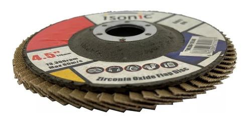 Disco Flap Para Pulir 4 1/2 Grit 120 Por 5 Unidades Isonic