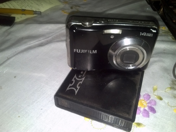 Câmera Fujifim Av150 14m.pixels, Vai Com Tripé E Card 2gb