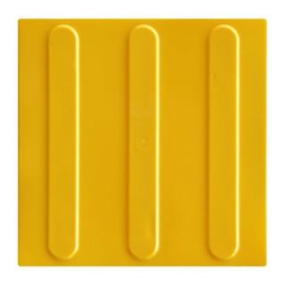 Piso Tátil Direcional Amarelo Pvc 25x25x0,5cm Kit 16pçs =m²