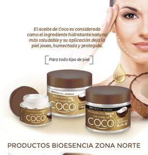 Set Crema Facial Dia + Noche + Contorno Aceite De Coco