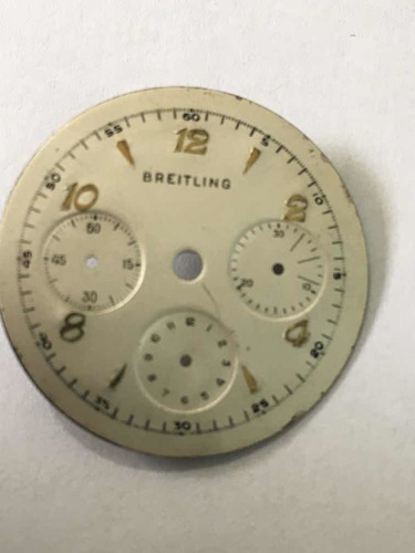 Breitling Crono Mostrador De Relogio De Pulso Antigo
