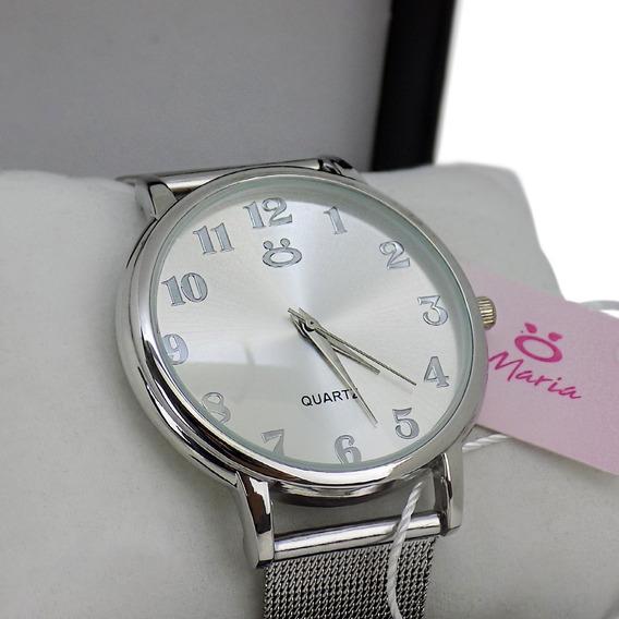 Relógio Feminino Original + Colar + Brincos - 3a32